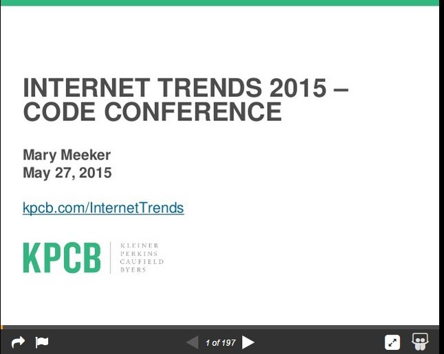 Meeker Internet Trends 2015